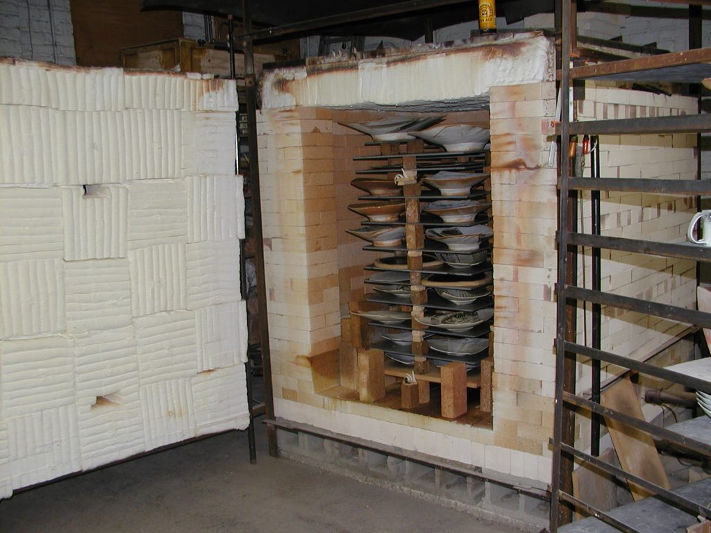 Eric Jensen's studio kiln with Advancer Kiln Shelves