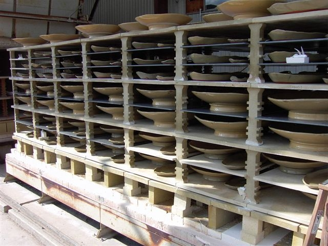 Eucalyptus stoneware with advancer kiln shelves