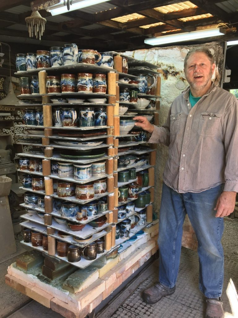 Mark Cortwright with Advancer Kiln Shelves